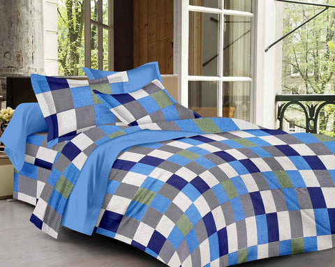 Multicolour Pure Cotton Double Bed Printed Bedsheet
