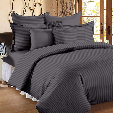 Grey Pure Cotton Double Bed Bedsheet