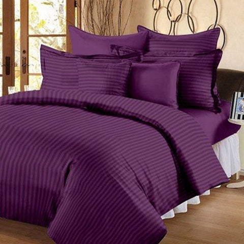 Purple Pure Cotton Double Bed Bedsheet
