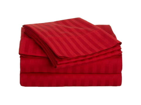 Red Pure Cotton Double Bed Bedsheet