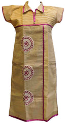 Cream Designer Cotton (Chanderi) Kurti