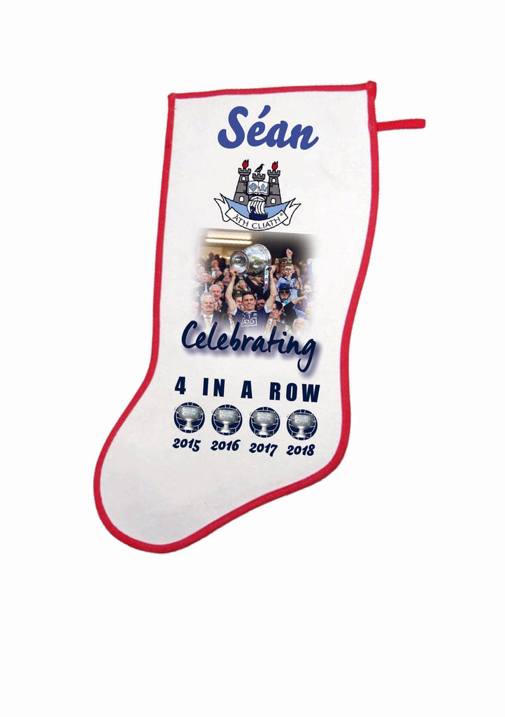 "Personalised Dublin ""4 in a Row"" Christmas Stocking"