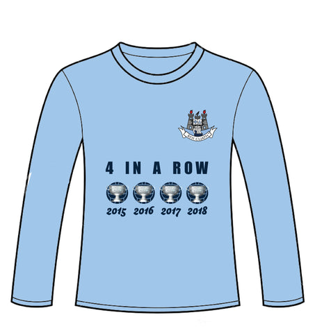 "Dublin GAA ""Four In a Row"" Long Sleeve T-shirt"
