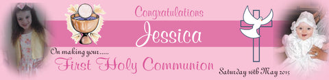 Personalised Communion/Party Banners (2ft x 1ft)