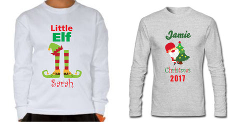 Kids Personalised Long Sleeve Christmas Tops