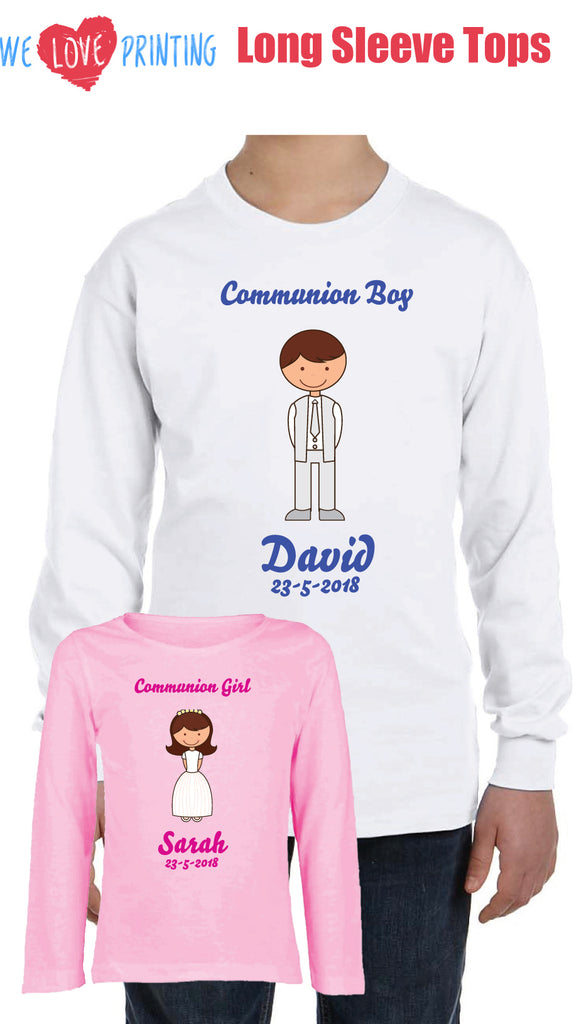 Personalised Communion Long Sleeve Top (Child)