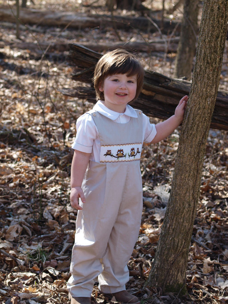 Boys Smocked Longall-Overalls