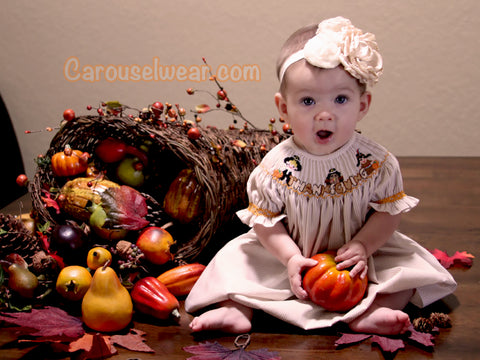 Girls Thanksgiving Dresses and Boys Outfits