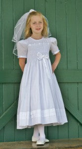 Holy Fisrt Communion Smocked dress
