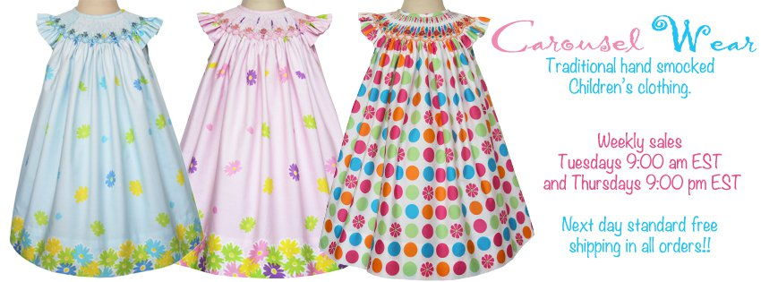 Welcome to our blog!  We offer beautiful hand smocked girls dresses and boys outfits for your little gents.