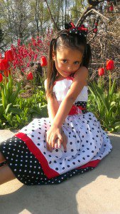 Girls polka dot Minnie Mouse dress