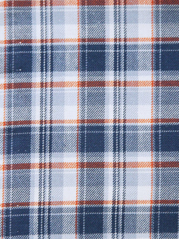Girls Ready to Smock Plaid Blue Dress for Fall and Winter--Carousel Wear - 2