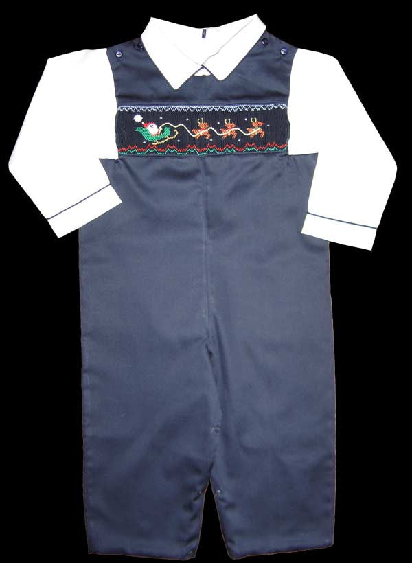d4fad4ea7 ... One free with a $100 purchase, Boys Christmas smocked overalls, shirt  is not included ...