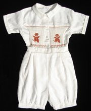 Boys Christmas smocked short set--Carousel Wear - 1