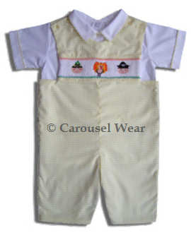 Thanksgiving boys shortall--Carousel Wear
