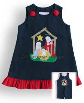 Little Baby Girls Nativity Christmas A Line Dress 3m--Carousel Wear