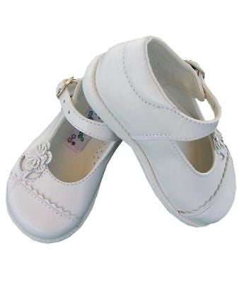 Girl leather white Mary Janes shoes--Carousel Wear - 1