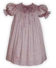 Girls Dress for Fall Winter Rosie Smocked Shinny Cotton Bishop Sz. 6--Carousel Wear - 1