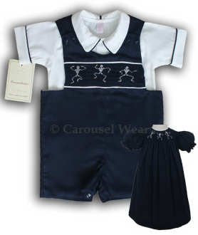 Boys halloween skeleton shortall--Carousel Wear - 2