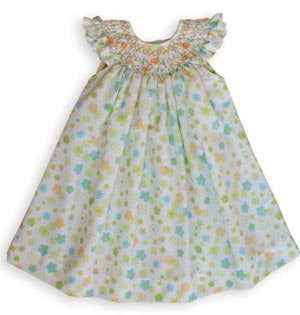 Girls Spring Floral Smocked Dress Tere--Carousel Wear - 1