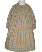 Fall Flannel Long Sleeve Thanksgiving Girls Dress 24m--Carousel Wear - 1