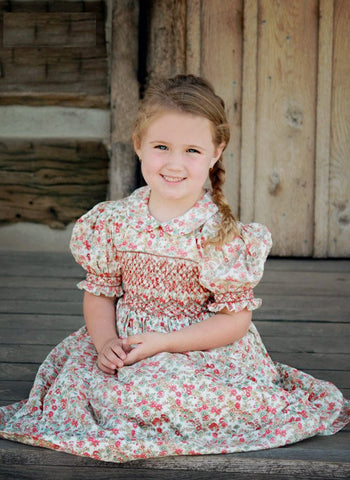 Country girls beautiful smocked dress--Carousel Wear - 2