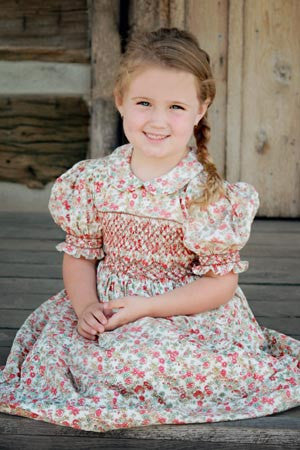 Country girls beautiful smocked dress--Carousel Wear - 1