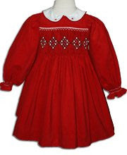 Baby Girls Red Christmas Corduroy Dress 24m - SOLD OUT--Carousel Wear