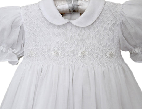 Special Baby Girls Christening Gown with Ribbons--Carousel Wear - 2