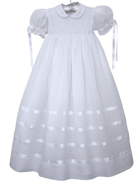 Special Baby Girls Christening Gown with Ribbons--Carousel Wear - 1