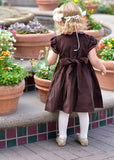 Girls Holiday Dress with Silk Embroidery for Winter--Carousel Wear - 3
