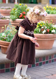 Girls Holiday Dress with Silk Embroidery for Winter--Carousel Wear - 4