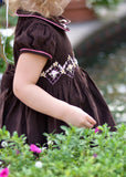 Girls Holiday Dress with Silk Embroidery for Winter--Carousel Wear - 6