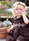 Girls Holiday Dress with Silk Embroidery for Winter--Carousel Wear - 7