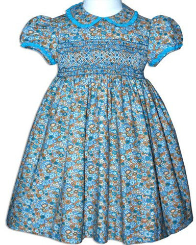 Jewel Our Girls Smocked Classic Party Dress--Carousel Wear - 1