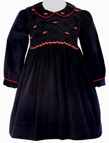 Girls Long Sleeved Christmas Winter Dress--Carousel Wear - 1