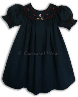 Christmas dress with Santa Claus and Rudolph--Carousel Wear - 2