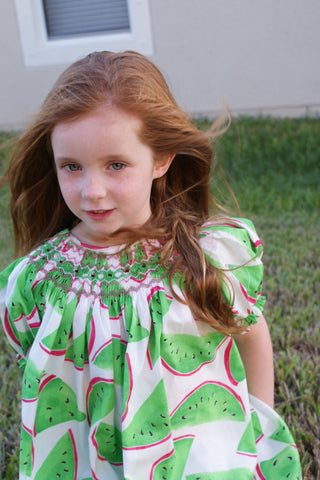 Girls summer dresses with watermelons--Carousel Wear - 2