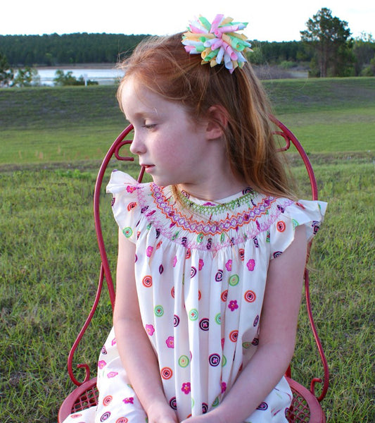 Baby Girl Summer Dress with Flowers Eva--Carousel Wear - 3
