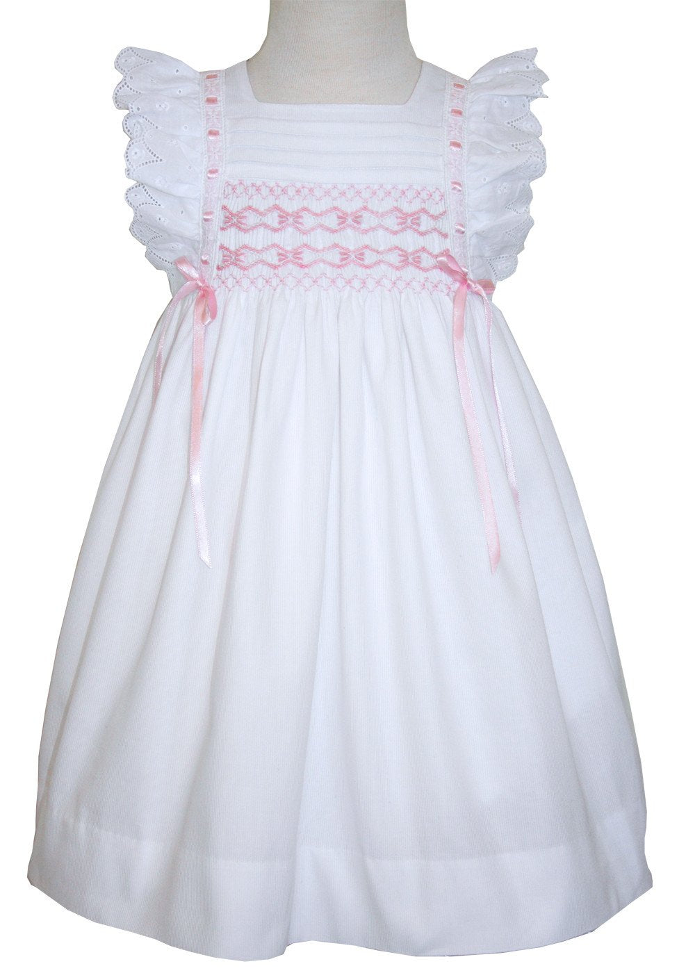 3m The Childrens Hour Baby Girls White Fully Lined Sheer Organza Gown 24m