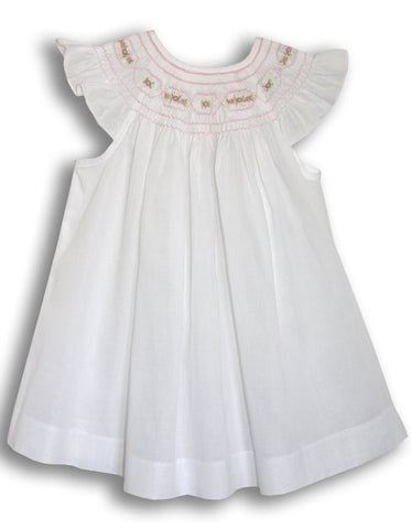 Baby girls white and pink dress--Carousel Wear - 2