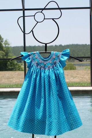 Girls polka dot summer dress--Carousel Wear - 2