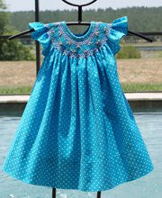Girls polka dot summer dress--Carousel Wear - 1