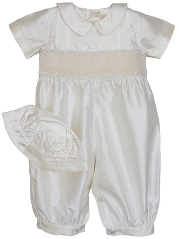 Boys Silk Ring Bearer Christening Longall Suit and Cap--Carousel Wear - 2