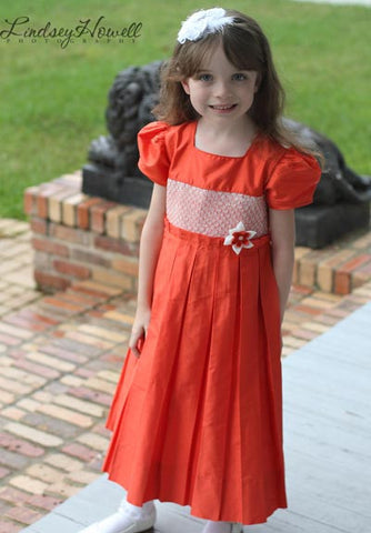 Adabelle Elegant Flower Girls Silk Dress with Pleated Skirt--Carousel Wear - 2