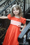 Adabelle Elegant Flower Girls Silk Dress with Pleated Skirt--Carousel Wear - 5