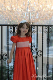 Adabelle Elegant Flower Girls Silk Dress with Pleated Skirt--Carousel Wear - 6