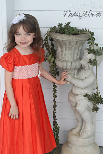 Adabelle Elegant Flower Girls Silk Dress with Pleated Skirt--Carousel Wear - 1