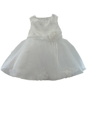 Baby Girl White Organza and Taffeta Flower Dress 3-6m--Carousel Wear