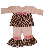 Haute baby girl zebra pink dress and pants--Carousel Wear